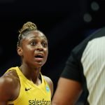 Thursday, August 22, 2019 - The Los Angeles Sparks in action against the Indiana Fever at Staples Center in Los Angeles, California. (Maria Noble)