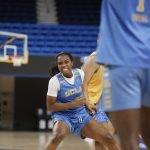 October 29, 2019 - Charisma Osborne at the UCLA Bruins women's basketball team preseason practice at Pauley Pavilion in Los Angeles, California. Maria Noble/WomensHoopsWorld
