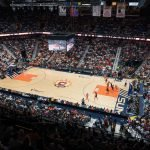 During Game 3 of the WNBA finals between the Washington Mystics and the Connecticut Sun at Mohegan Sun Arena, Uncasville, CT, USA on October 06, 2019. Photo Credit: Chris Poss