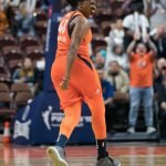 Connecticut Sun guard Shekinna Stricklen (40) during Game 4 of the WNBA finals between the Washington Mystics and the Connecticut Sun at Mohegan Sun Arena, Uncasville, CT, USA on October 08, 2019. Photo Credit: Chris Poss