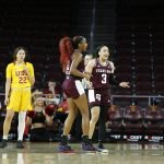 Chennedy Carter is called for a foul. Maria Noble/WomensHoopsWorld