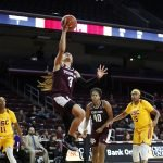 Chennedy Carter drives to score. Maria Noble/WomensHoopsWorld