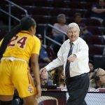 Texas A&M coach Gary Blair calls out instructions to his team. Maria Noble/WomensHoopsWorld