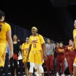 Aliyah Jeune shouts after scoring. Maria Noble/WomensHoopsWorld