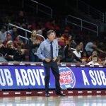 USC coach Mark Trakh. Maria Noble/WomensHoopsWorld