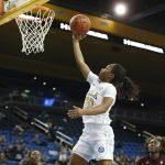 Charisma Osborne lays it up and in. Maria Noble/WomensHoopsWorld.