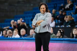Felisha Legette-Jack is in her eighth year as coach at Buffalo. Photo courtesy of Buffalo Athletics.