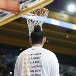 The back of UCLA's warm up shirts. Maria Noble/WomensHoopsWorld.