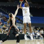 Kiara Jefferson rises to score. Maria Noble/WomensHoopsWorld.