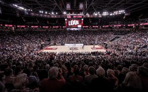 A sellout crowd of over 18,000 was on hand at Colonial Life Arena to watch No. 1 South Carolina beat UConn. Photo courtesy of South Carolina Athletics.