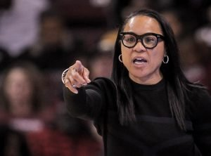 Dawn Staley is a leading candidate for Division I coach of the year. Photo courtesy of South Carolina Athletics.