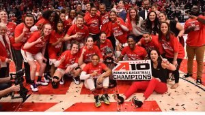 Dayton beat VCU for the Atlantic-10 Tournament championship four days before the NCAA Tournament was cancelled. Photo courtesy of Dayton Athletics.