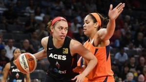 Dearica Hamby is guarded by Alyssa Thomas last season. Ethan Miller/Getty Images photo.