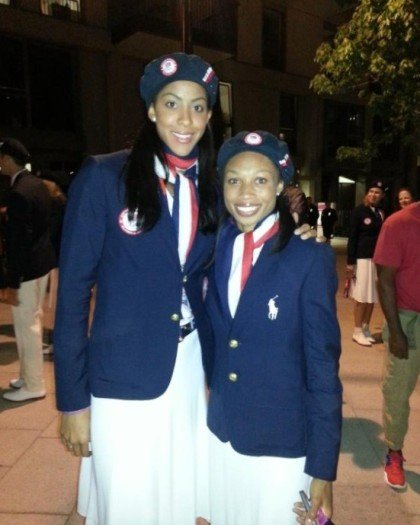 Friends Candace Parker and Allyson Felix walked into the London Olympics opening ceremonies together. Photo by Allyson Felix.