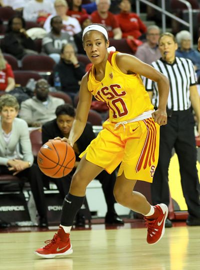 Courtney Jaco has risen to second on USC's all-time three-point scoring list while attaining a Bachelor's degree, a Minor and a Master's degree. Photo by TGTVSports1.