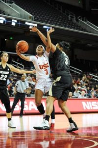 Minyon Moore dropped 33 points for USC in a game two weeks ago. Photo by TGTVSports1.