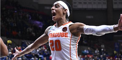 Brittney Sykes helped lead Syracuse past Iowa State. Photo courtesy of Syracuse Athletic Communications.