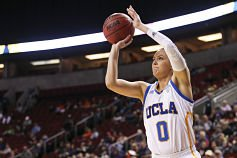 Nicole Kornet came off the bench to score 16 points for the Bruins. Photo by Eric Evans Photography.