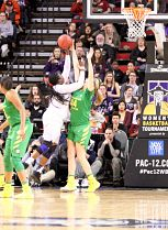 Chantel Osahor puts up a shot for the Huskies. Photo by Mike Houston/T.G.Sportstv1.
