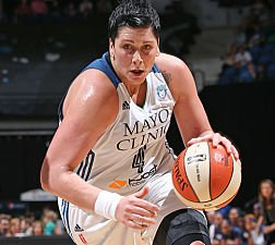 Janel McCarville, who helped the Minnesota Lynx reach the WNBA Championship series last year, is not under contract with the team this season. Photo by David Sherman/NBAE via Getty Images.