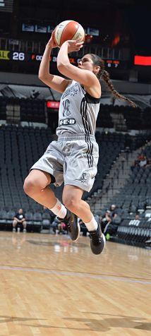 Rookie Kelsey Plum led San Antonio over Dallas Saturday with 19 points. Photo courtesy of San Antonio Stars.