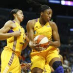 Nneka Ogwumike snags a rebound. Photo by Maria Noble/WomensHoopsWorld.