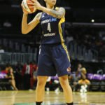 Candice Dupree swings the ball. Photo by Maria Noble/WomensHoopsWorld.