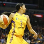 Candace Parker looks for the outlet pass. Photo by Maria Noble/WomensHoopsWorld.
