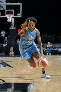 Cappie Pondexter runs a play. Photo by Mark Sobhani NBAE via Getty Images.