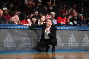 Curt Miller coaches from the sidelines. Photo by Nathaniel S. Butler/NBAE via Getty Images.