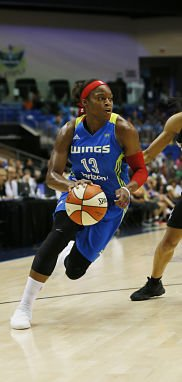 Karima Christmas-Kelly has been a steady presence for the Wings this season. Photo by Tim Heitman/NBAE via Getty Images.
