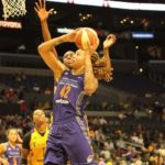 Brittney Griner goes against Nneka Ogwumike in the paint. Photo by Benita West/TGSportsTV1.