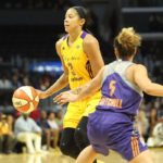 Candace Parker looks to pass. Photo by Benita West/TGSportsTV1.