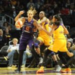 Brittney Griner loses control of the ball. Photo by Benita West/TGSportsTV1.