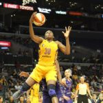 Nneka Ogwumike scores. Photo by Photo by Benita West/TGSportsTV1.