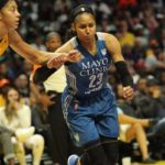 Maya Moore struggled at times but finished with 16 points. Photo by Benita West/TGSportsTV1.
