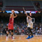 Elena Delle Donne looks to get past Sylvia Fowles. Photo by Brian Few Jr./TGSportsTV1.