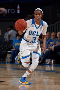 Jordin Canada's vocal leadership and poise took the Bruins to another level in the 2016-2017 season. Photo courtesy of UCLA Athletics.