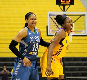 Maya Moore and Nneka Ogwumike have played against each other for many years. Photo by Dennis J. Freeman/News4usonline.com