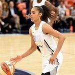 Skylar Diggins-Smith runs the play for Team Parker. Maggi Stivers/WomensHoopsWorld.