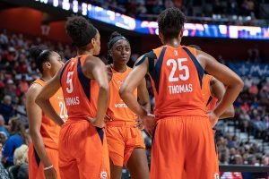 The Connecticut Sun began the season 7-1, and since then have had a rocky year. Chris Poss Photos.