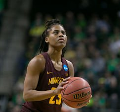 Kenisha Bell shoots a free throw in last year's NCAA Tournament. Photo by Courtney Anderson.