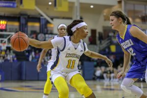 Allazia Blockton. Photo courtesy of West Virginia athletics.