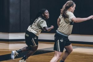 Ajah Stallings practices with the Boilermakers. Photo courtesy of Purdue Athletics.