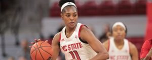 Kiara Leslie has been scoring big for NC State this season. Photo courtesy of Wolfpack Athletics.