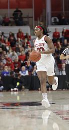 Grace Hunter has been NC State's leading scorer this season. Photo courtesy of NC State Athletics.
