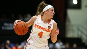 Junior point guard Tiana Magankahia posted a triple-double for Syracuse yesterday. Photo courtesy of Syracuse Athletics.