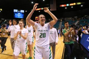 Sabrina Ionescu shattered the NCAA's career triple-double mark this year. Photo courtesy of Oregon Athletics.