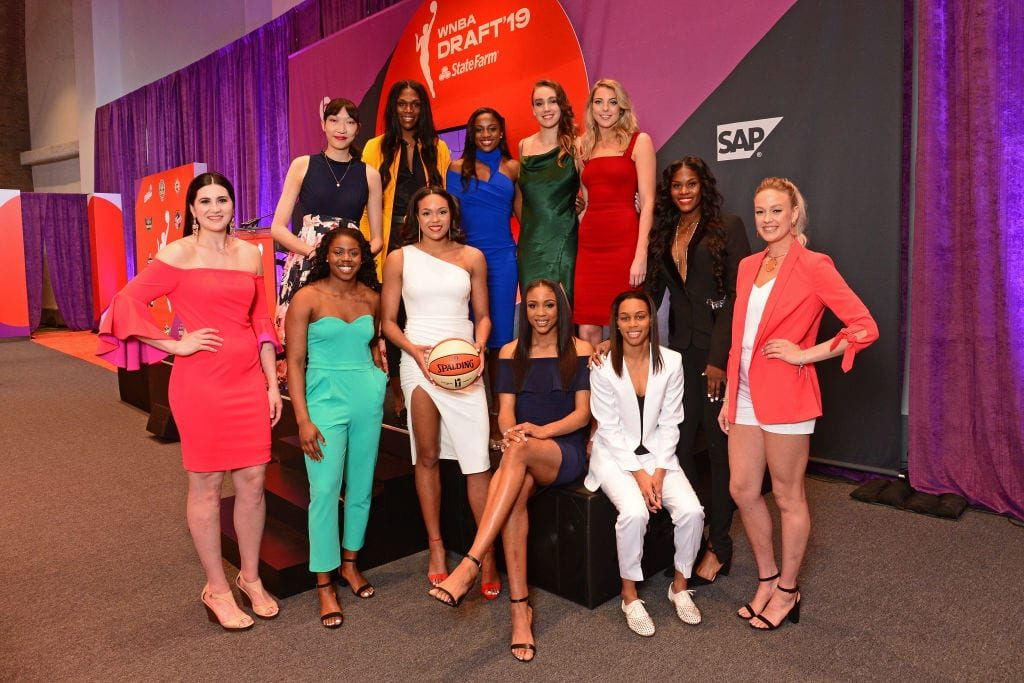WNBA draft invitees gather before the picks are made. Photo courtesy of the WNBA.
