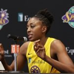 Tuesday, May 14, 2019 - Nneka Ogwumike attends the Los Angeles Sparks Media Day in Los Angeles, California. (Maria Noble/WomensHoopsWorld).